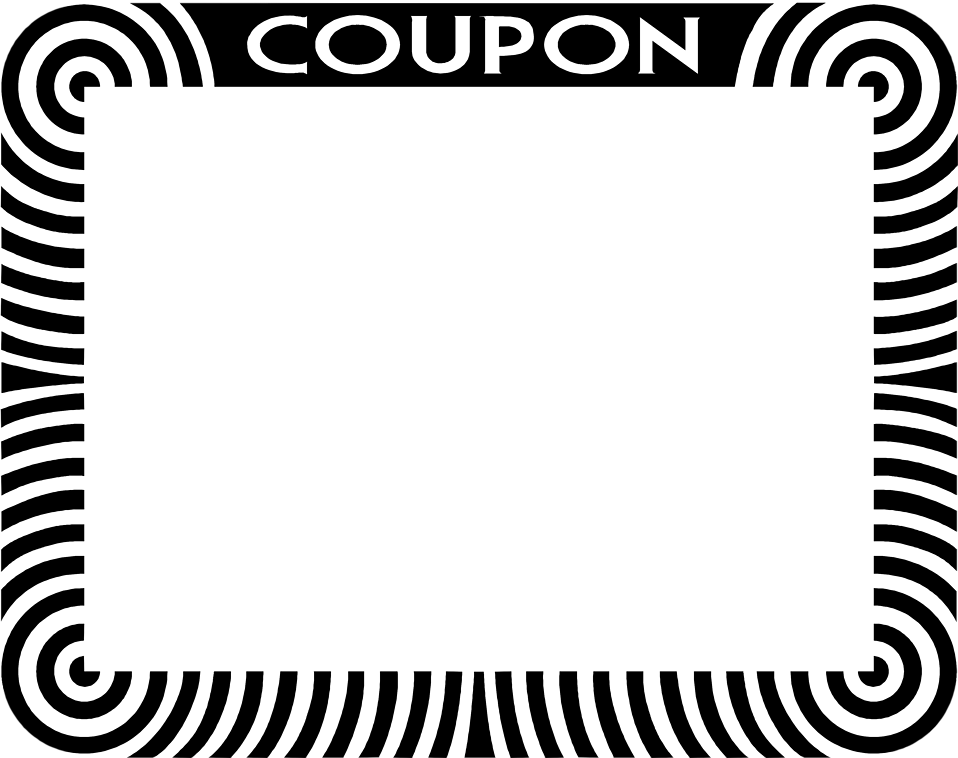 Illustration of a blank coupon frame border : Free Stock Photo