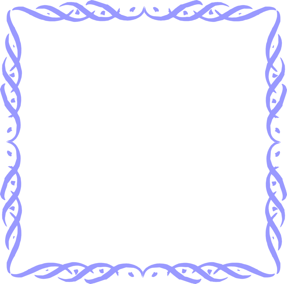 Blue Borders and Frames Clip Art
