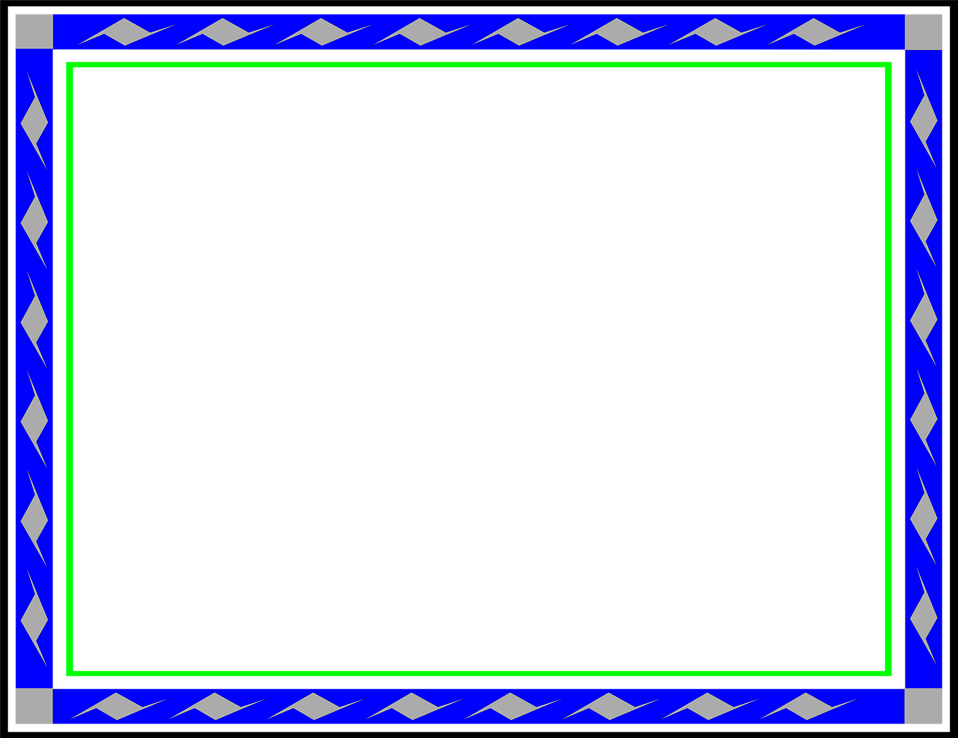 Illustration of a blank blue and green frame border : Free Stock Photo