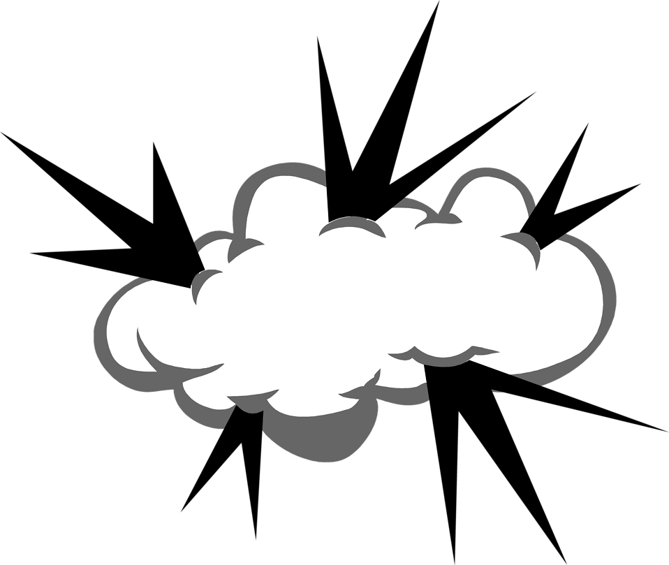 Illustration of a cloud with bolts coming out of it : Free Stock Photo