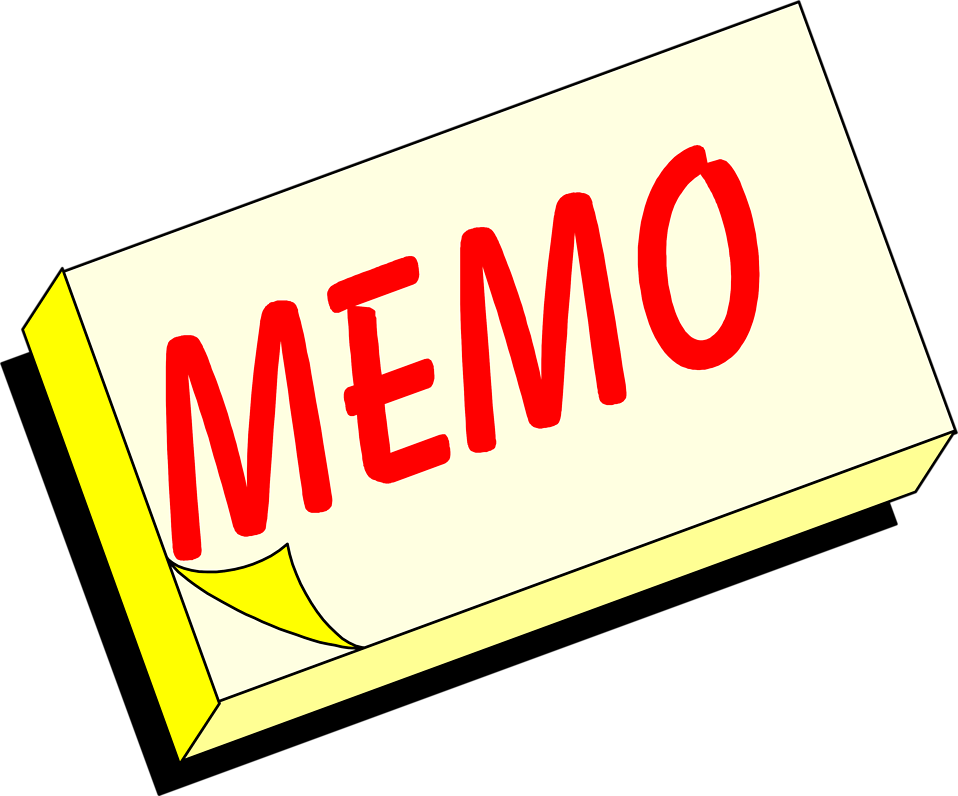 Illustration of a yellow memo pad with text : Free Stock Photo