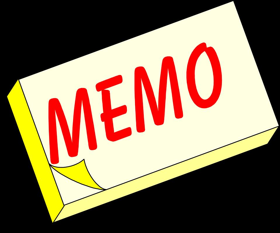 blank memos
