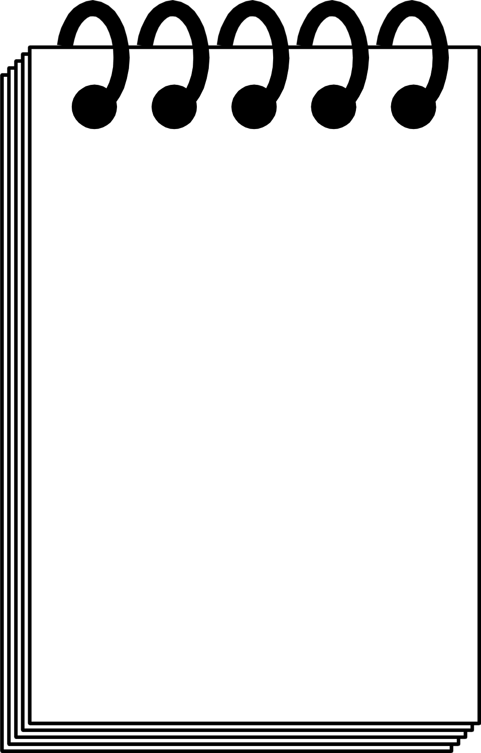 Illustration of a blank note pad.
