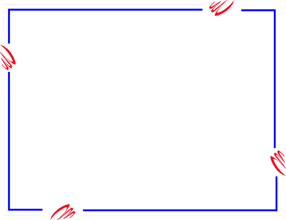 Illustration of a blank red and blue frame : Free Stock Photo