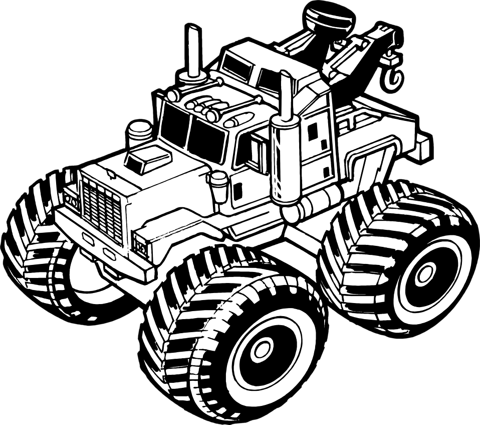 Illustration of a toy tow truck : Free Stock Photo