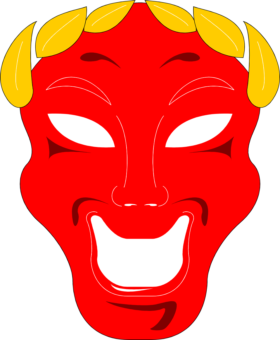Illustration of a comedy mask : Free Stock Photo