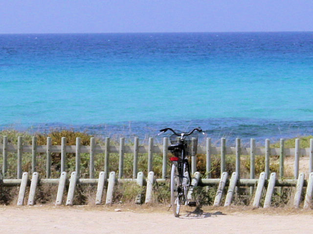 A bike parked by the ocean : Free Stock Photo