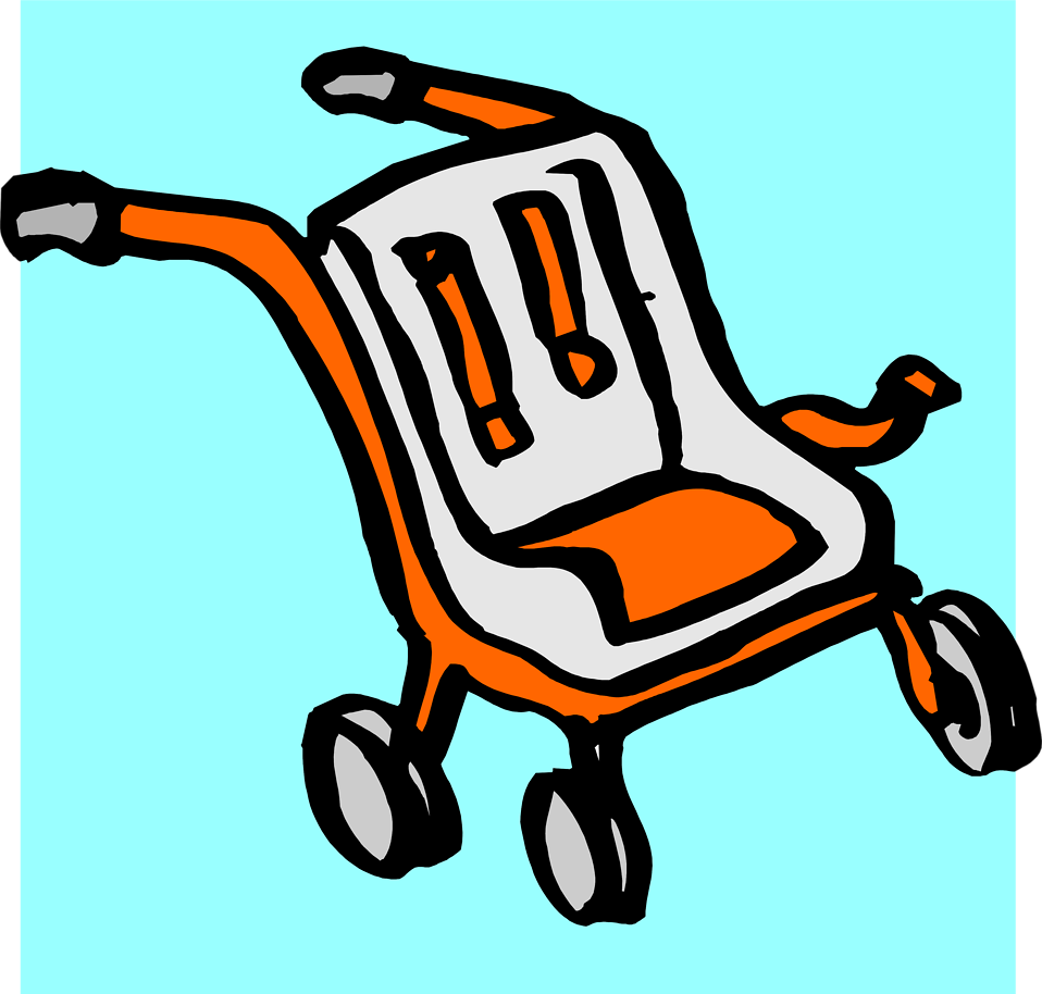 Illustration of a baby stroller : Free Stock Photo