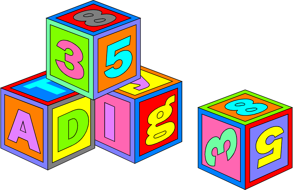 Illustration of colorful toy blocks : Free Stock Photo