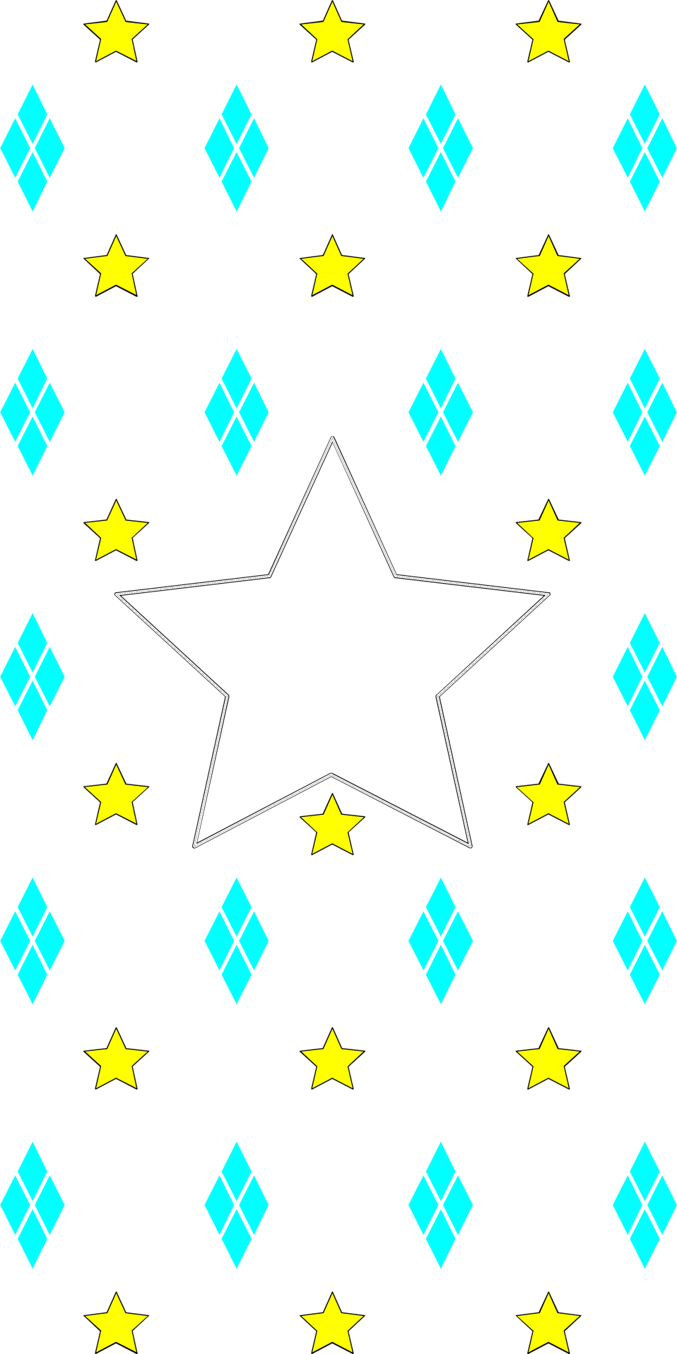 Illustration of a yellow and blue star background : Free Stock Photo