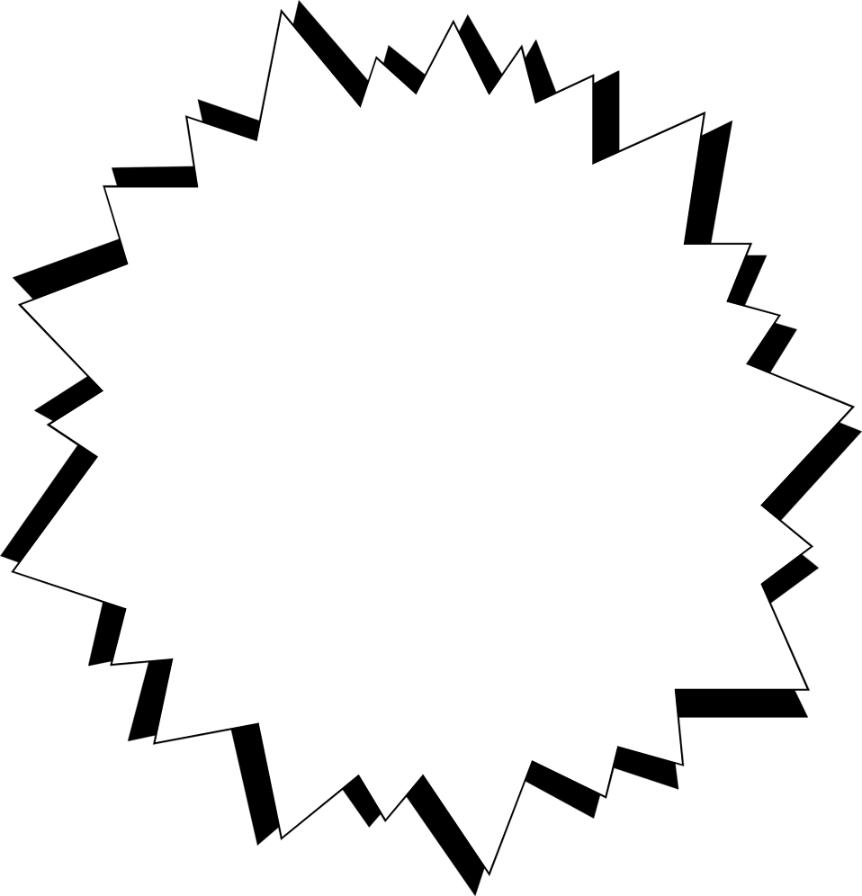 Illustration of a blank white star burst : Free Stock Photo