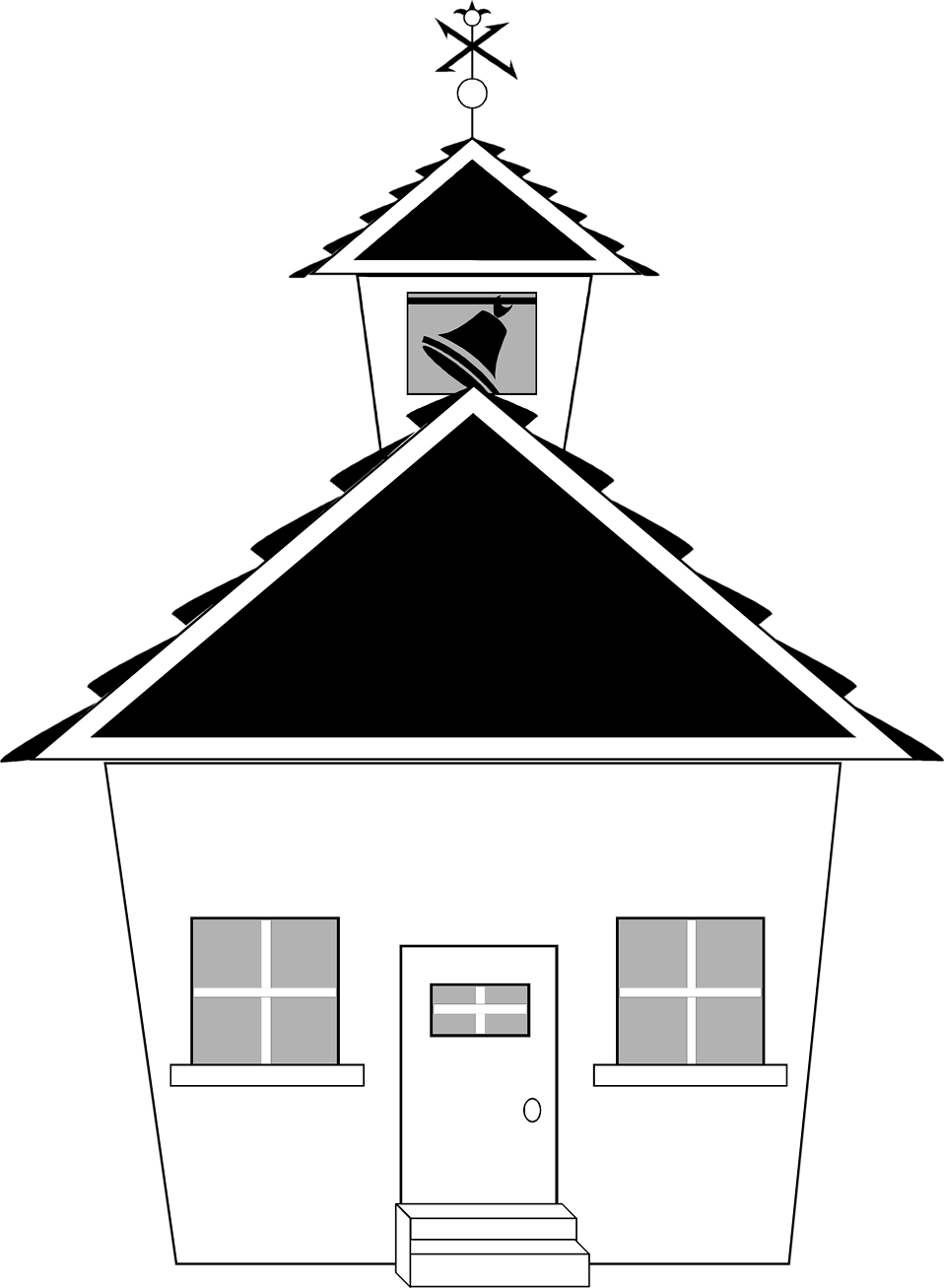 Illustration of a small school house : Free Stock Photo