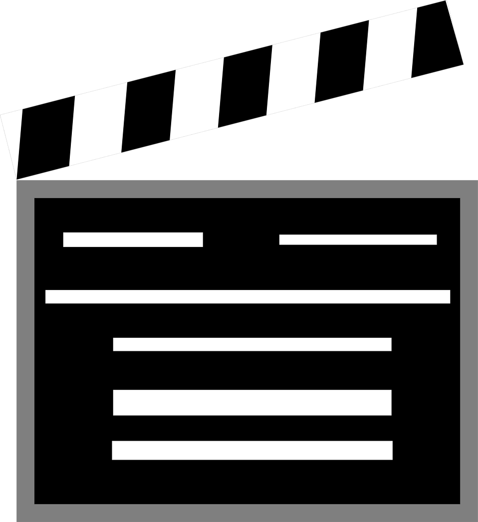 Illustration of a movie clapboard : Free Stock Photo