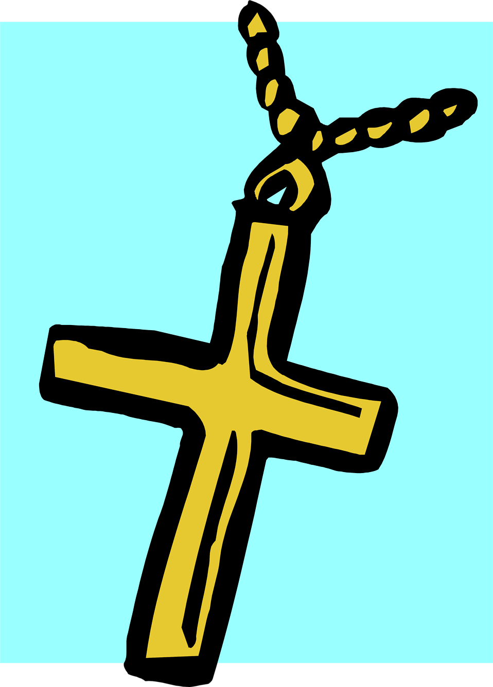 Illustration of a cross on a necklace : Free Stock Photo