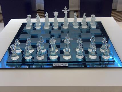 A glass chess set : Free Stock Photo