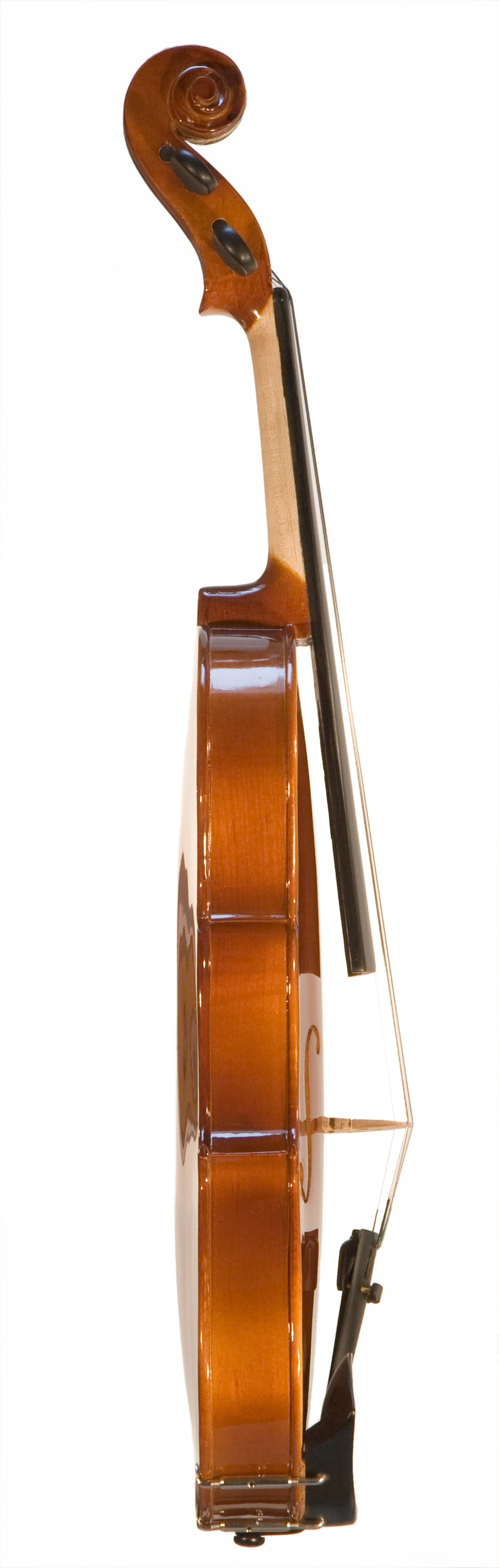 Side view of a violin isolated on a white background : Free Stock Photo
