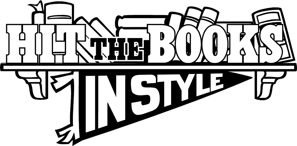 Illustration of hit the books text : Free Stock Photo