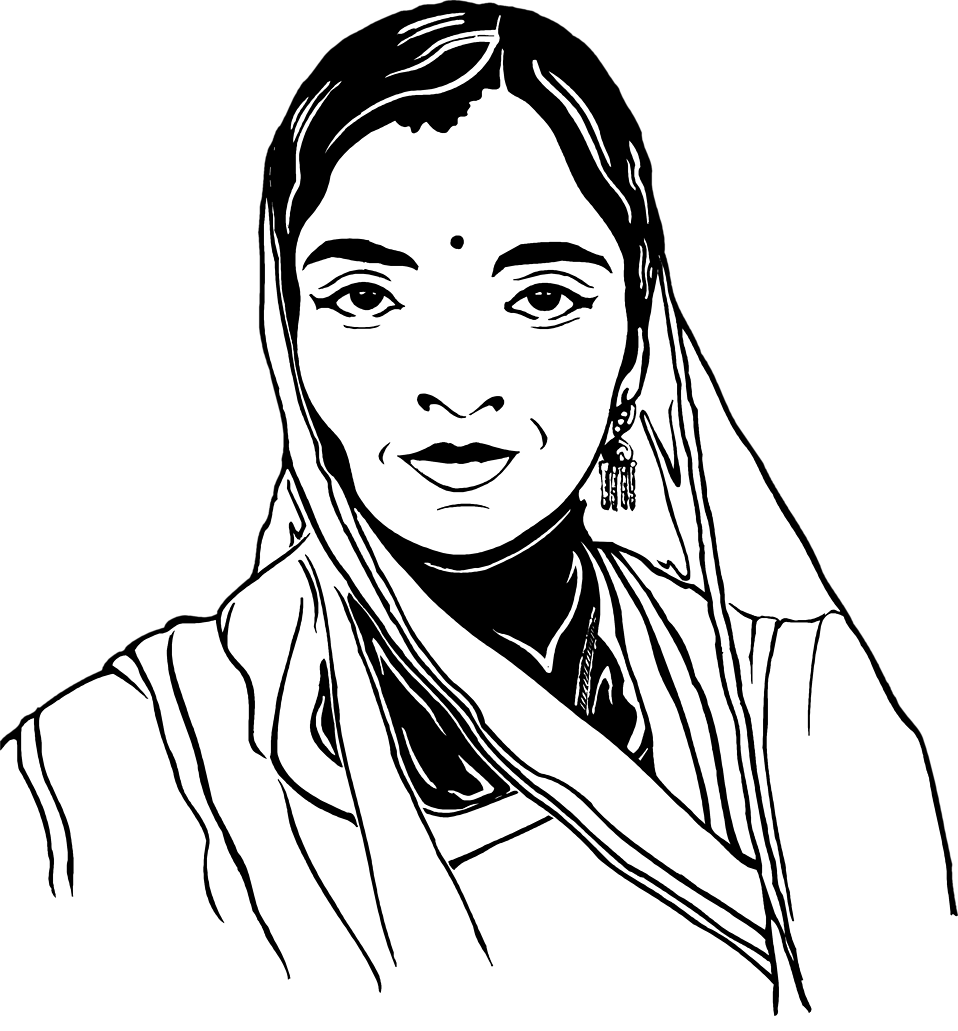 Illustration of an Indian womans face : Free Stock Photo