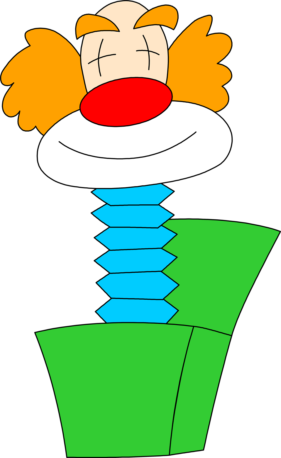 Illustration of a clown jack-in-the-box : Free Stock Photo