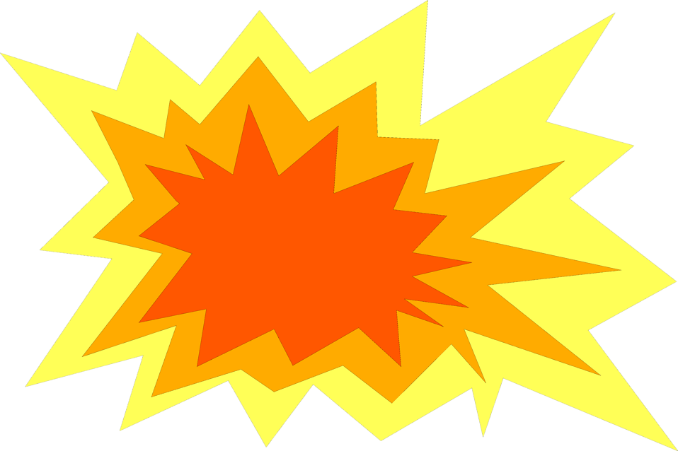 Illustration of a red orange and yellow burst : Free Stock Photo