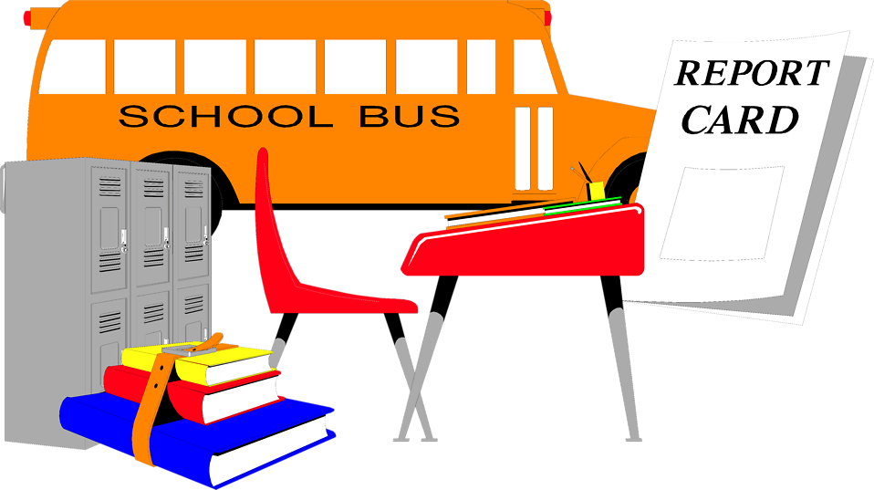 Illustration of public school items : Free Stock Photo