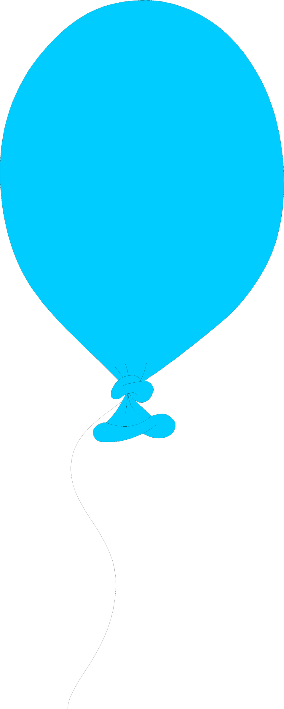 Illustration of a blue balloon : Free Stock Photo