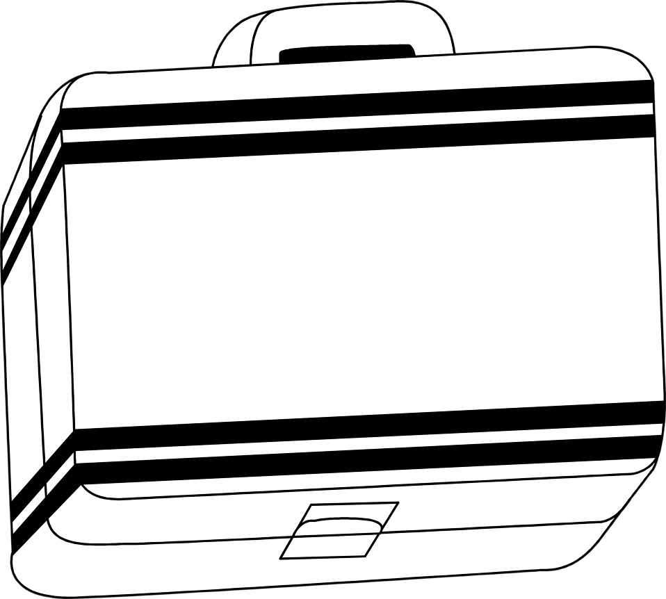 Illustration of a lunch box : Free Stock Photo