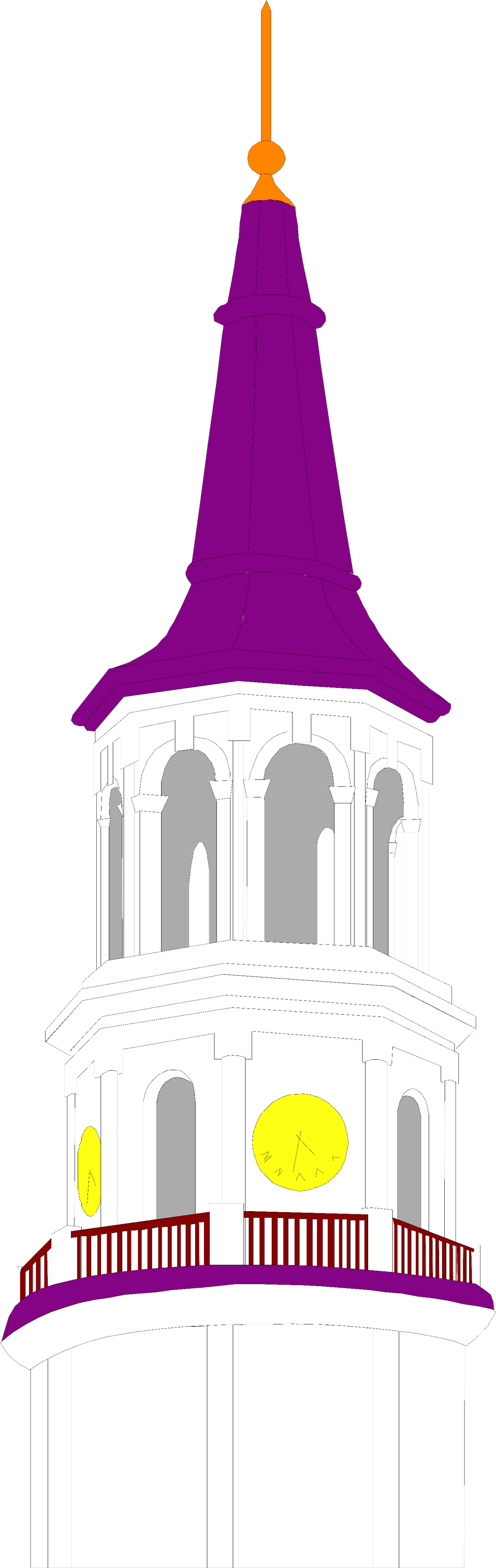 Illustration of a clock tower : Free Stock Photo