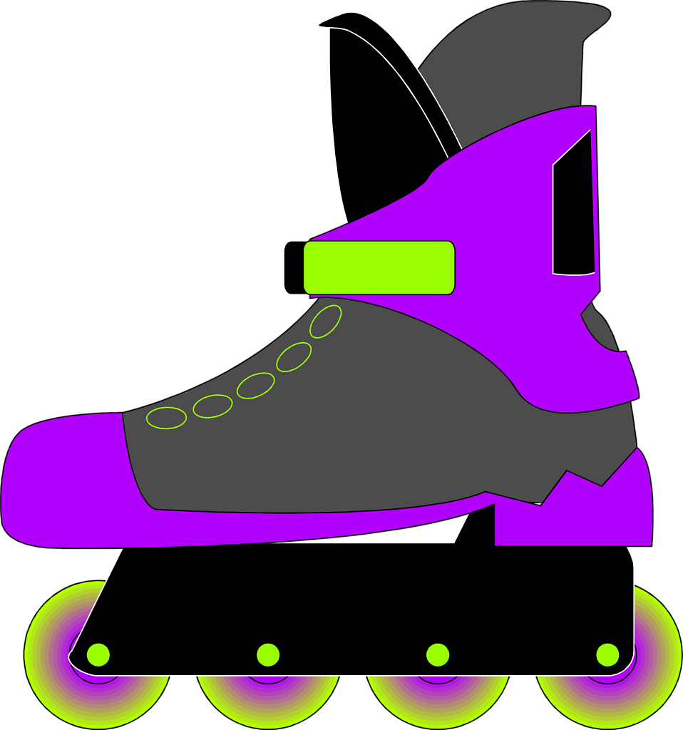 Illustration of a rollerblade skate : Free Stock Photo