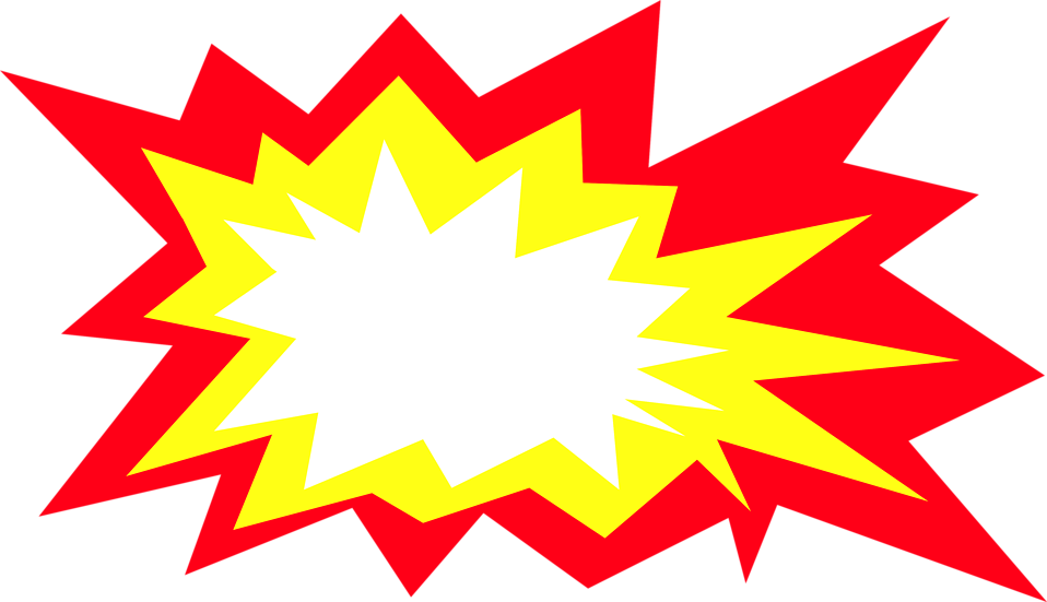 Illustration of a yellow and red burst : Free Stock Photo