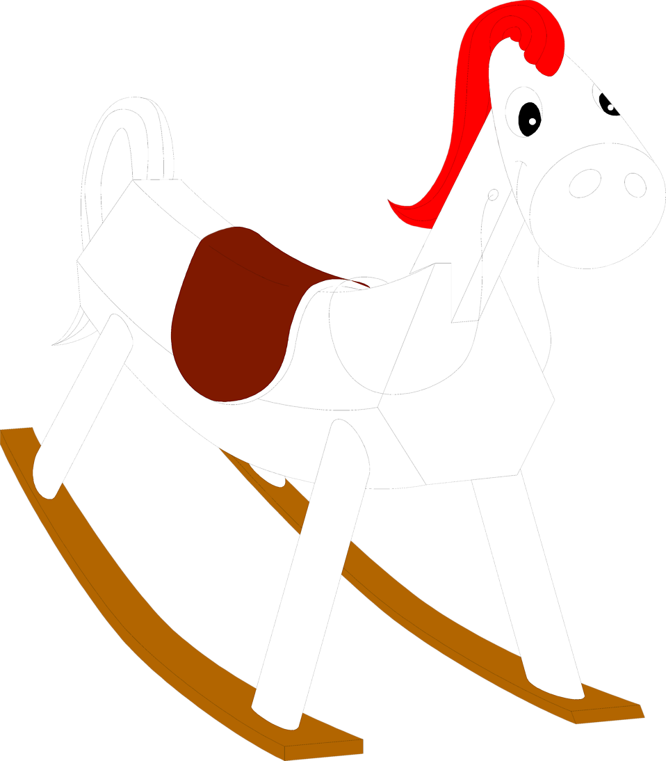 Illustration of a toy rocking horse : Free Stock Photo