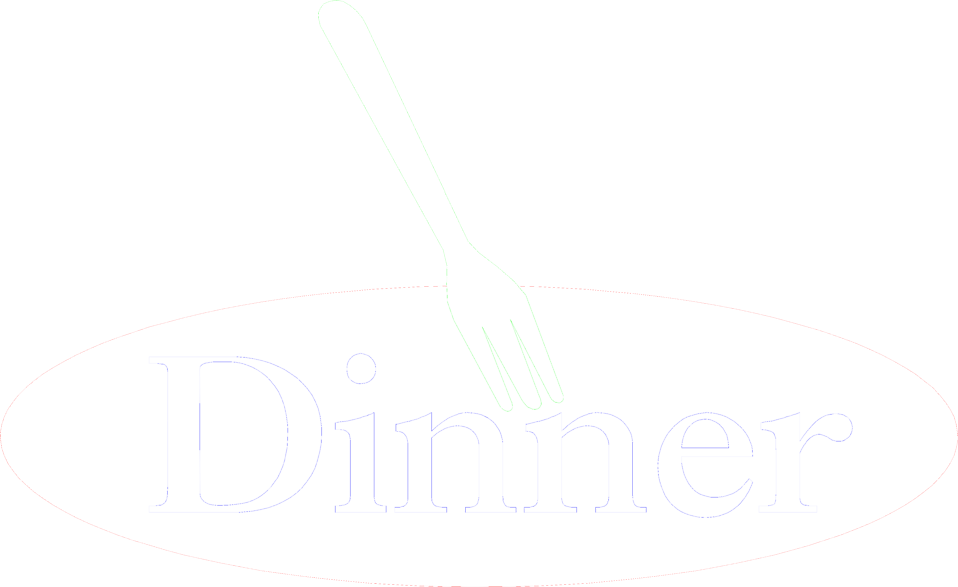 Illustration of a fork and dinner text : Free Stock Photo