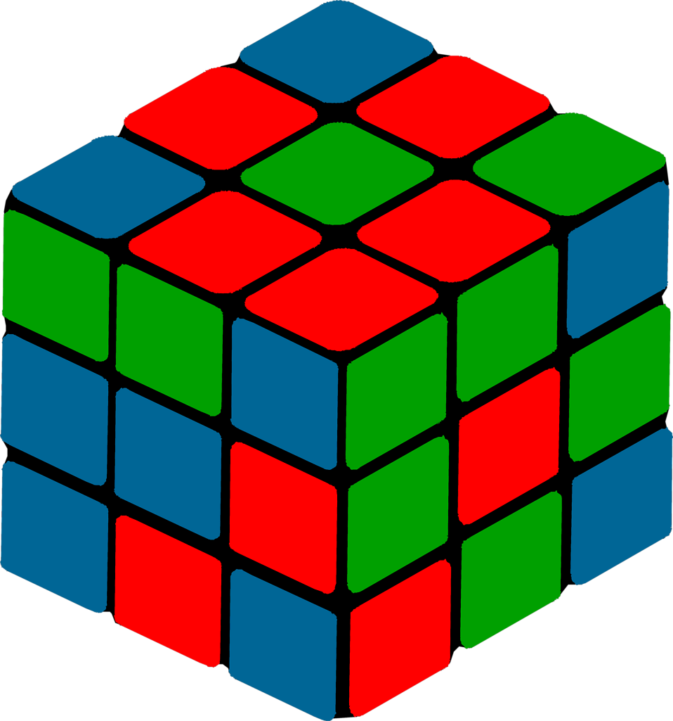 Illustration of a puzzle cube : Free Stock Photo