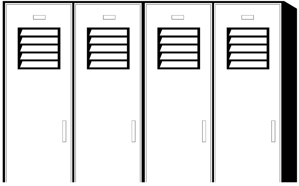 Illustration of school lockers : Free Stock Photo