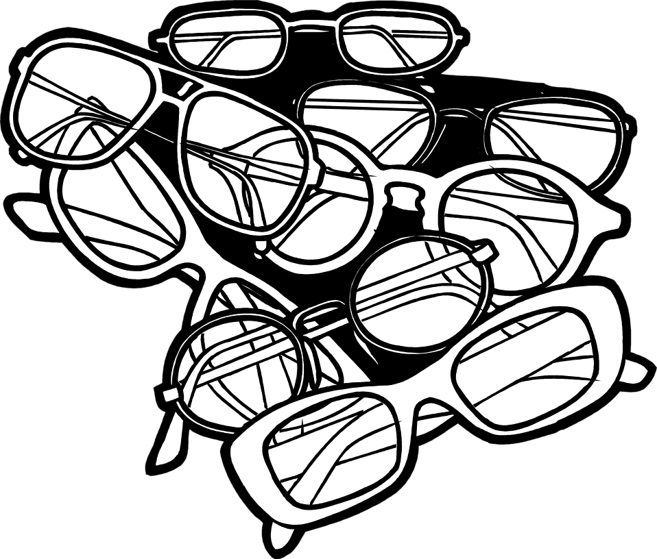 Illustration of a pile of glasses : Free Stock Photo
