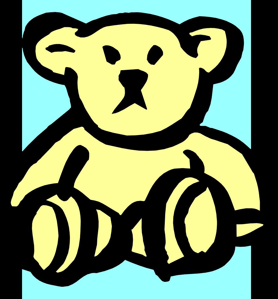 Illustration of a yellow teddy bear : Free Stock Photo