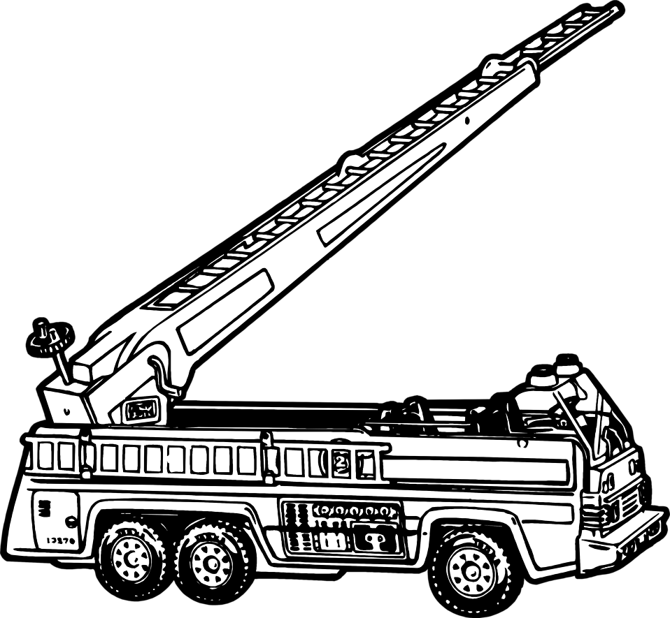 Illustration of a toy fire engine : Free Stock Photo