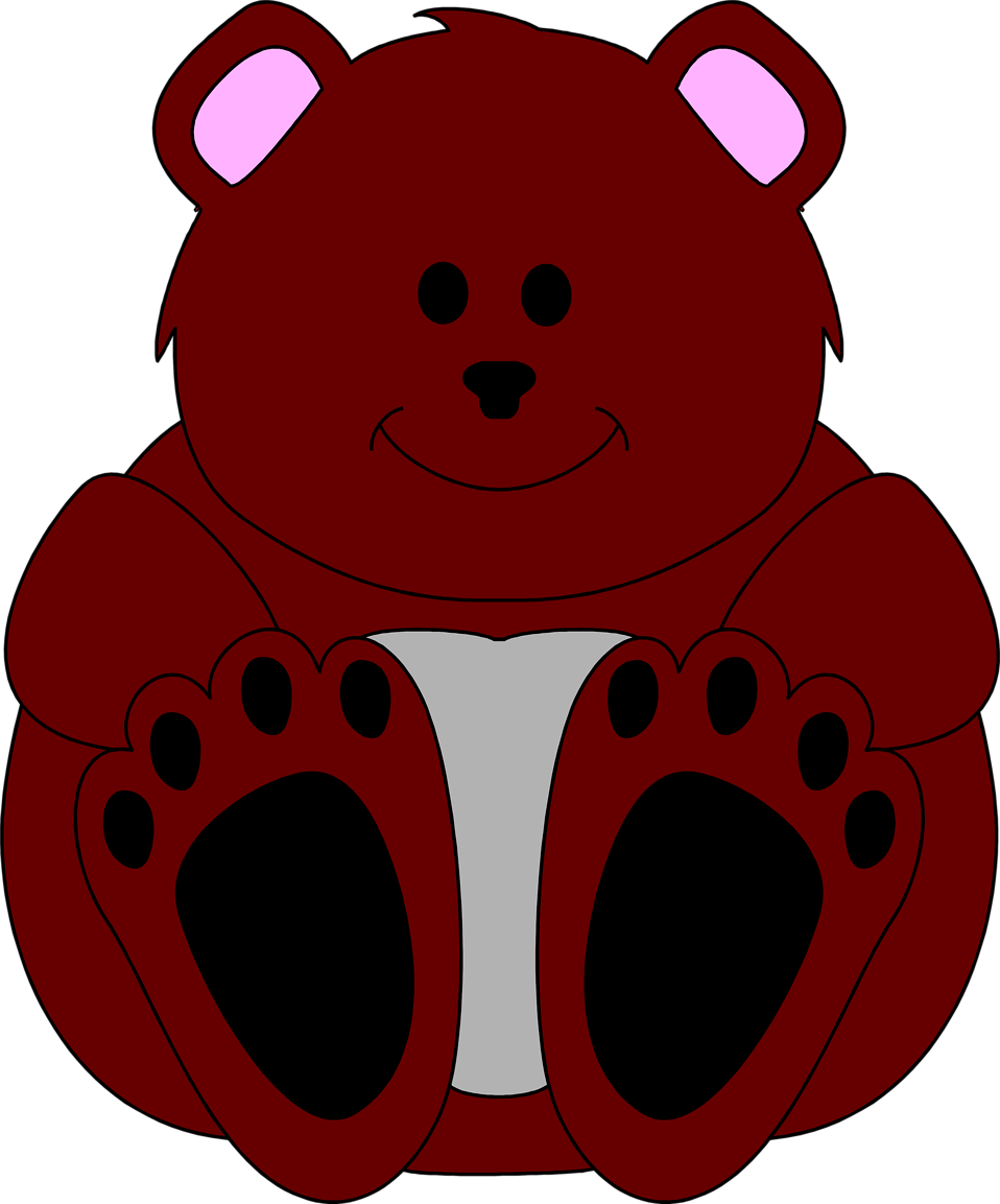 Illustration of a teddy bear : Free Stock Photo