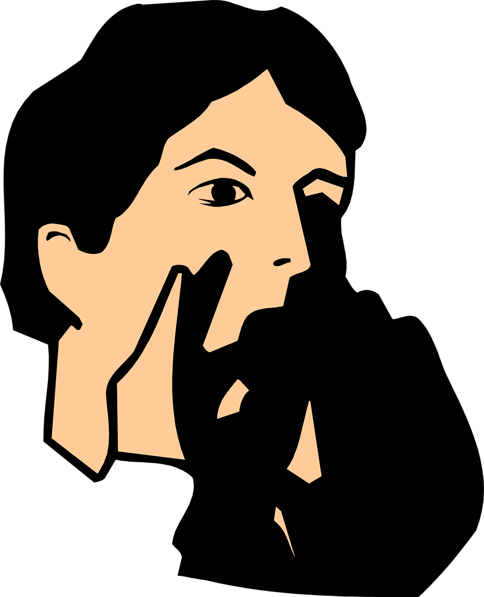 Illustration of a man shouting : Free Stock Photo
