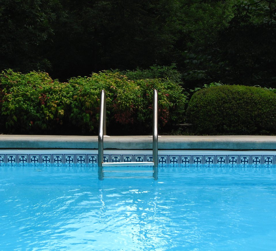 A ladder in a swimming pool : Free Stock Photo