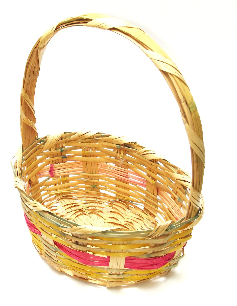 An Easter basket isolated on a white background : Free Stock Photo