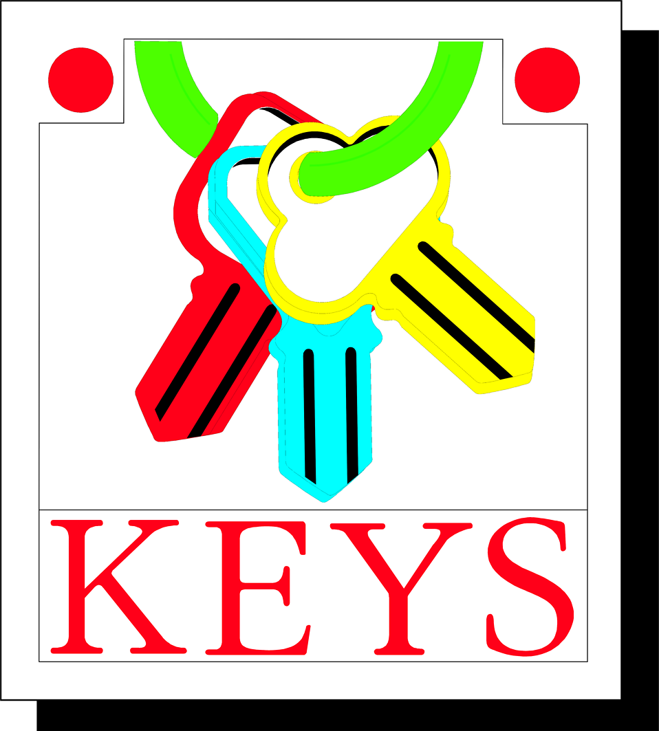 Illustration of keys on a ring with text : Free Stock Photo