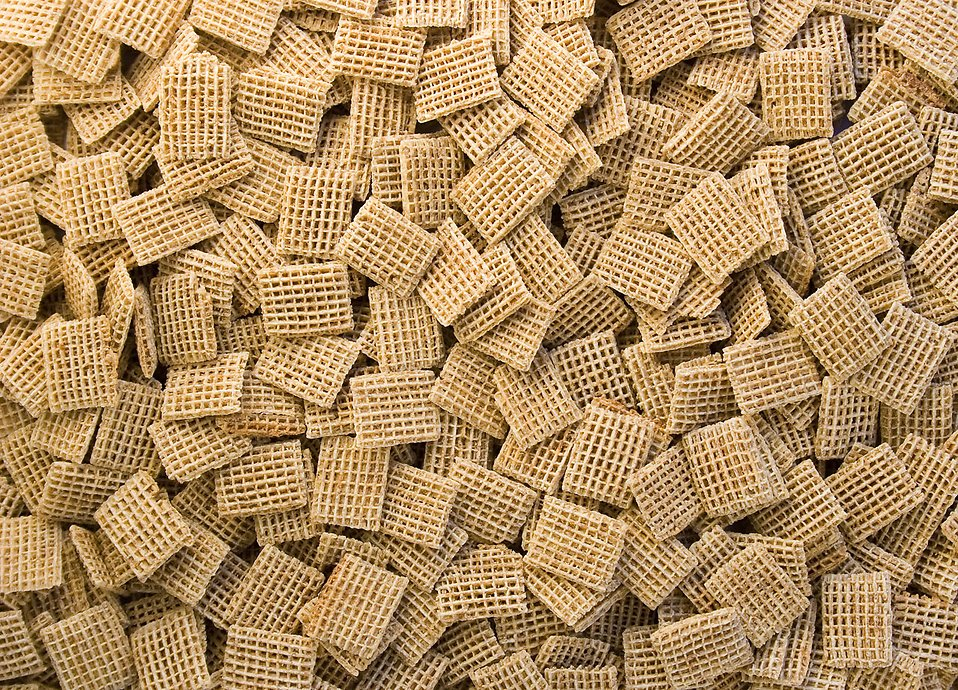 Close-up of square shaped breakfast cereal : Free Stock Photo