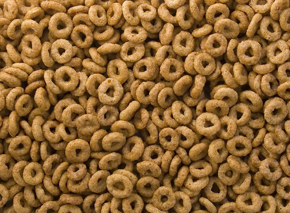 Close-up of round breakfast cereal : Free Stock Photo