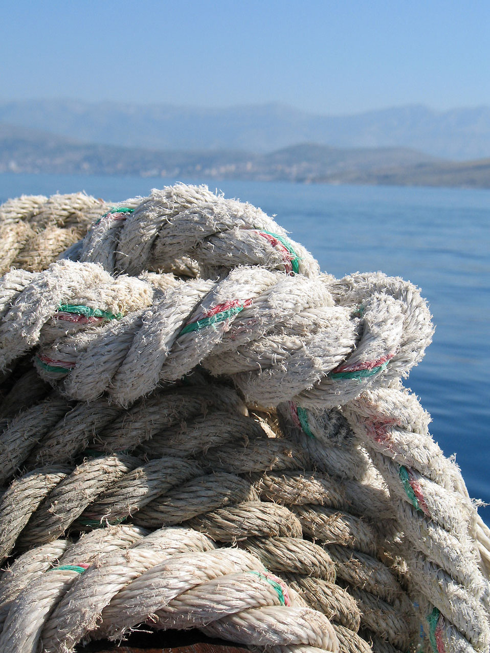 Close-up of rope by the ocean : Free Stock Photo