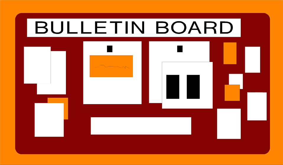 Illustration of a bulletin board : Free Stock Photo