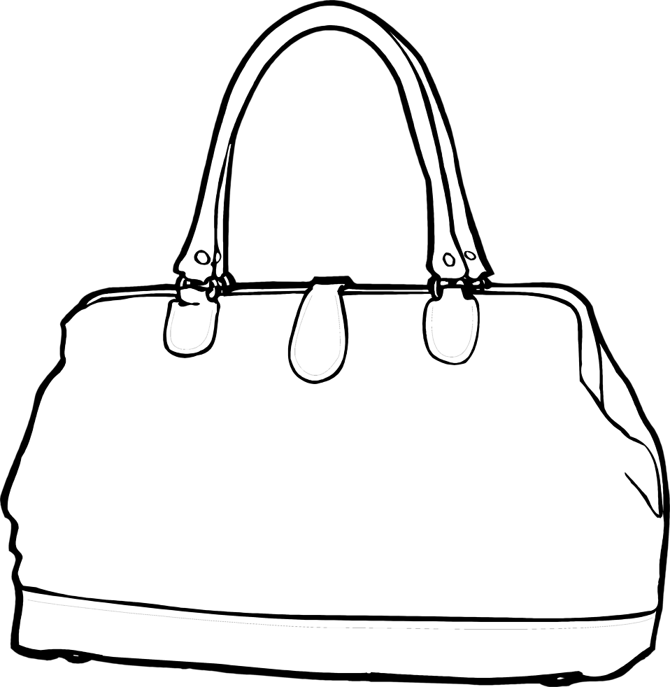 Purse | Free Stock Photo | Illustration of a purse | # 7887 Purse Clipart Black And White