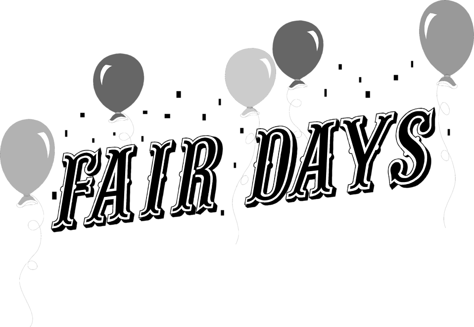 Illustration of balloons and fair days text : Free Stock Photo