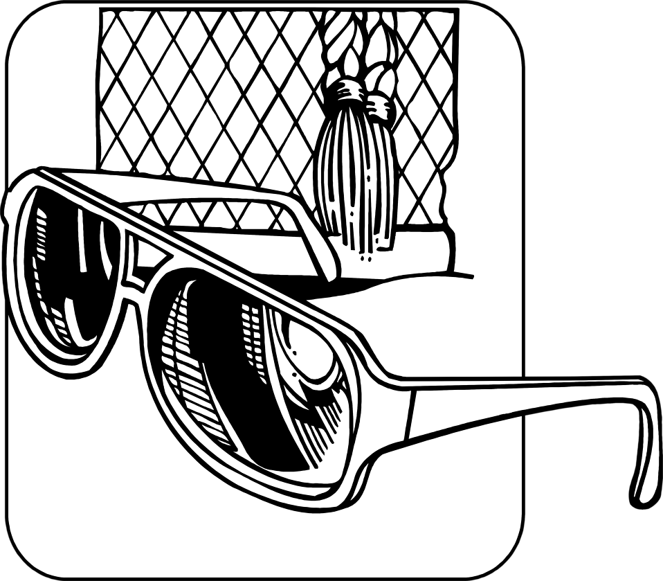 Illustration of a pair of sunglasses : Free Stock Photo