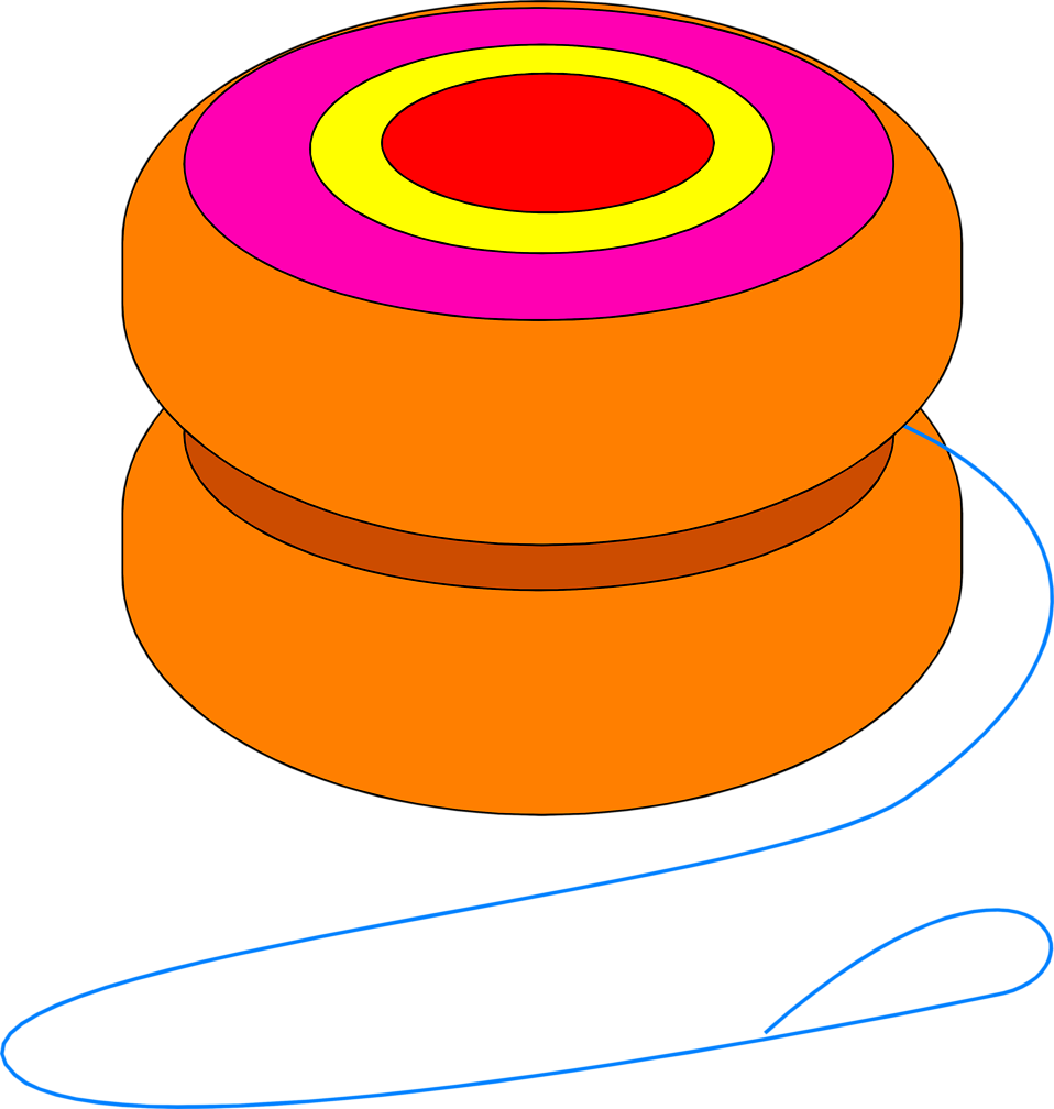 Illustration of an orange yo-yo : Free Stock Photo